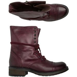 Steve Madden Wine Red Troopa Boot